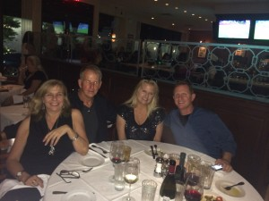 friends at Merlino's fundraiser for rescue dogs