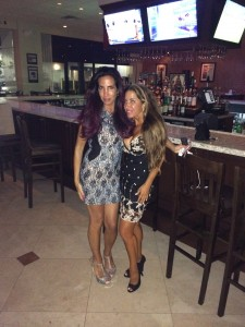 dog rescue donors at Merlino's bar in Boca Raton, Florida