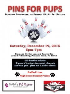 Pins for pups bowling fundraiser
