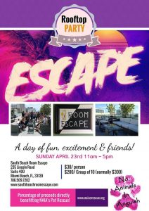 Escapement room, animal pet fundraiser