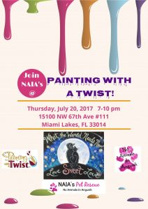Painting fundraiser rescue dogs and cats