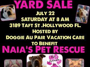 Yard sale, rescue, fundraiser